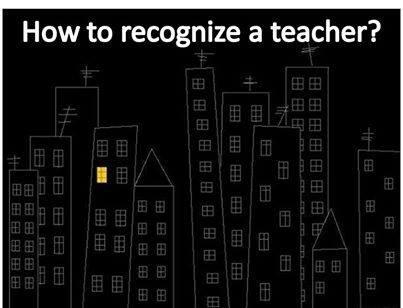how to recognize a teacher